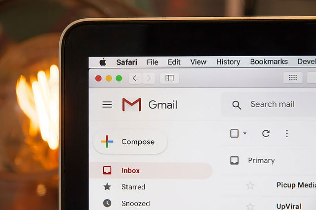 Email screenshot to market yourself as a freelancer